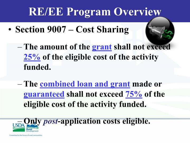 RE/EE Program Overview