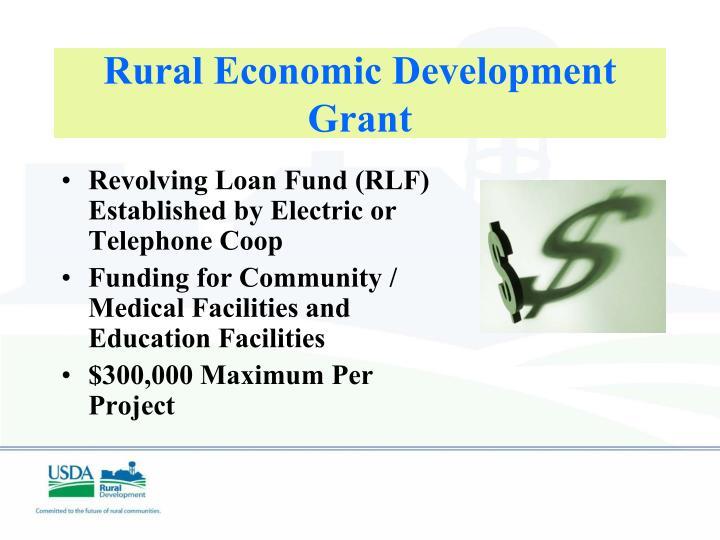 Rural Economic Development Grant