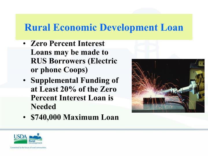 Rural Economic Development Loan