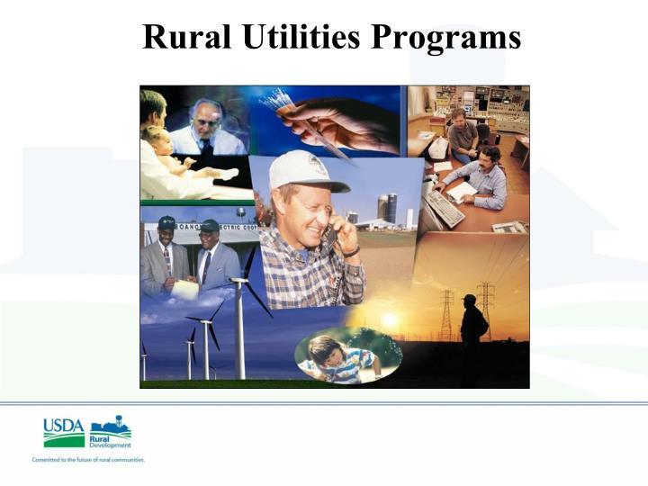 Rural Utilities Programs