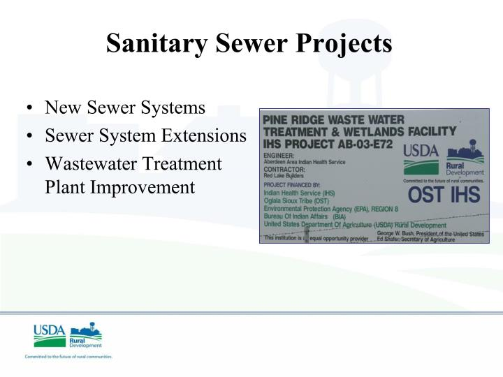 Sanitary Sewer Projects