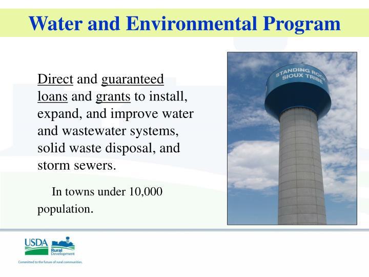 Water and Environmental Program