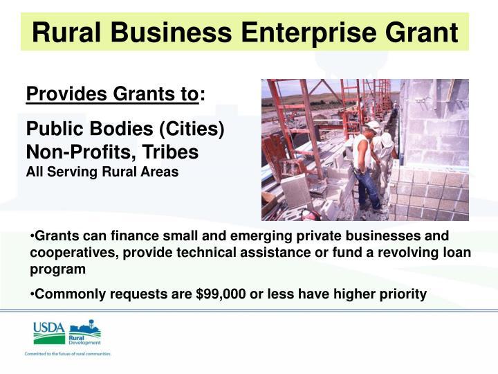 Rural Business Enterprise Grant