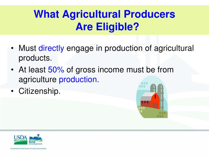 What Agricultural Producers