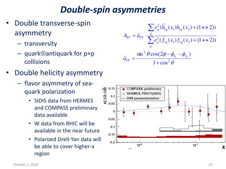 Double-spin asymmetries