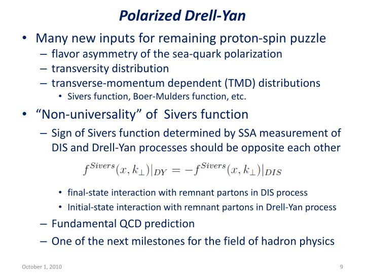 Polarized Drell-Yan