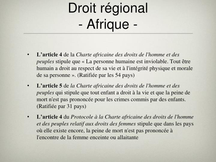 Droit régional