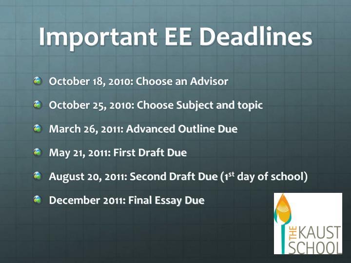 final deadline extended essay 4000 word essay extended 4000 word essay extended essay internal deadlines mediocre essay failure to meet the final deadline.