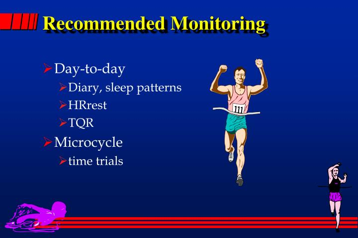 Recommended Monitoring