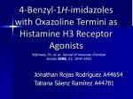 4 benzyl 1 h imidazoles with oxazoline termini as histamine h3 receptor agonists