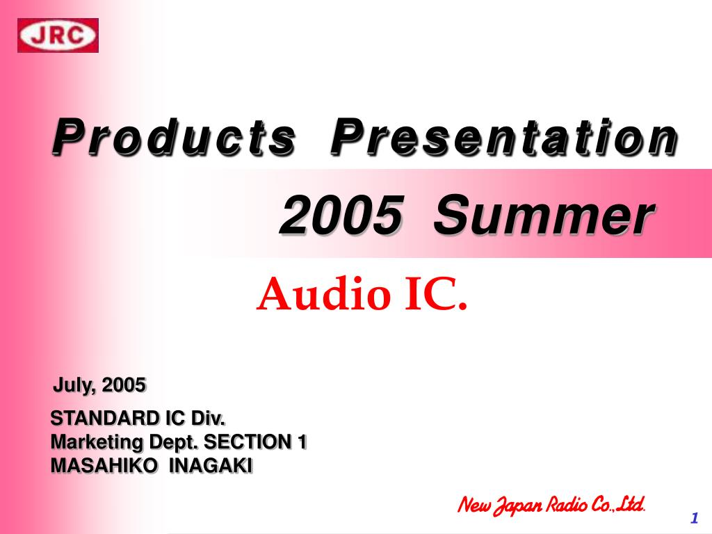Ppt Products Presentation Powerpoint Id4764096 Bass Boost Section Output Driver With Ic N