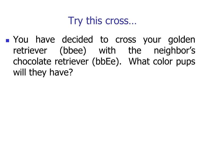 Try this cross…