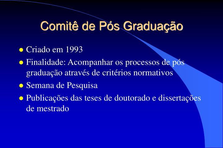 Comitê de Pós Graduação