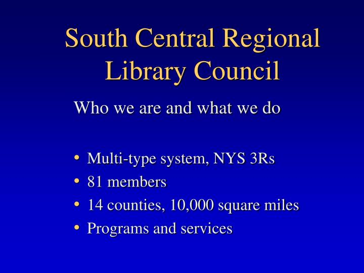 South central regional library council1