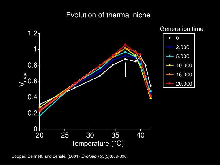 Evolution of thermal niche