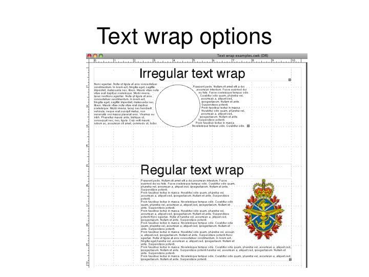 Text wrap options