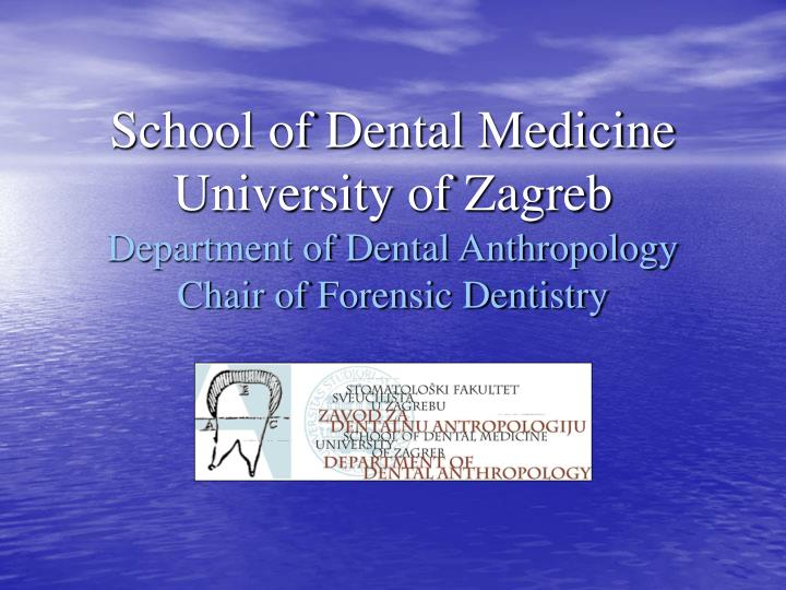 essay on forensic dentistry The history of dentistry st apollonia the patron saint of dentistry, meant to heal pain derived from tooth infection st apollonia is popularly invoked against the.