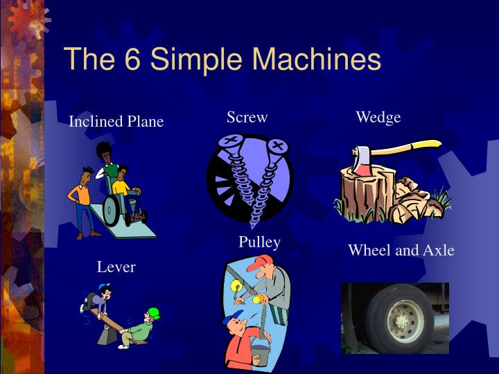 The 6 simple machines