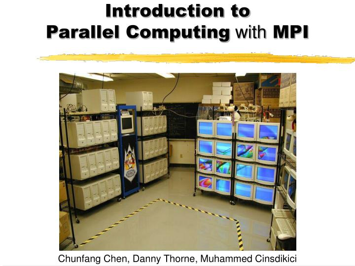 introduction to parallel computing with mpi n.