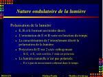 nature ondulatoire de la lumi re1
