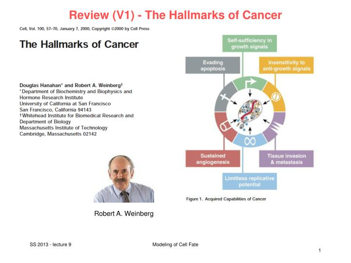 review v1 the hallmarks of cancer n.