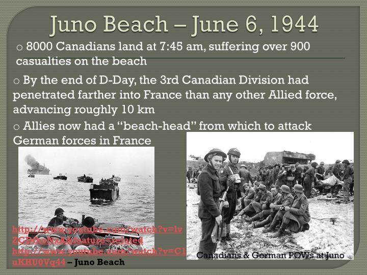 Juno Beach – June 6, 1944