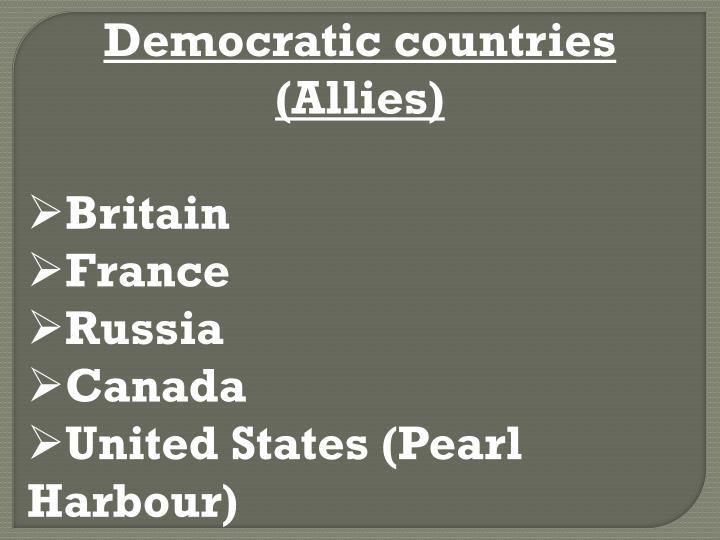 Democratic countries (Allies)
