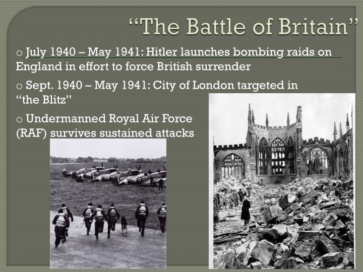 """""""The Battle of Britain"""""""