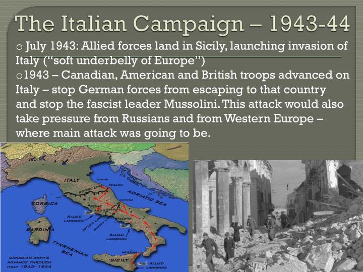 The Italian Campaign – 1943-44