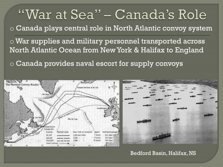 """War at Sea"" – Canada's Role"