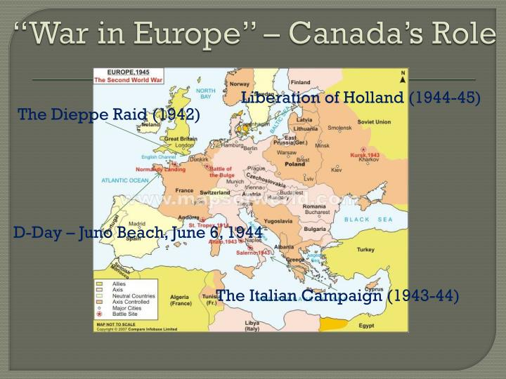 """""""War in Europe"""" – Canada's Role"""