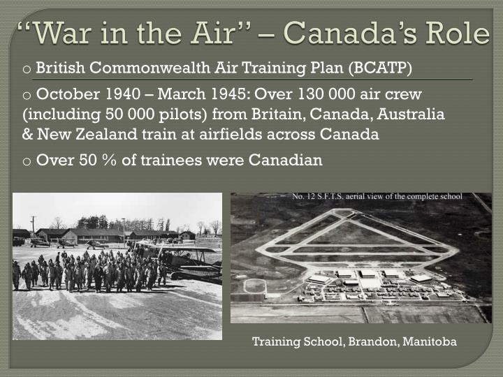 """""""War in the Air"""" – Canada's Role"""