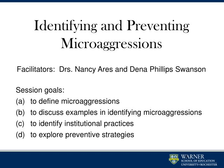 identifying and preventing microaggressions n.