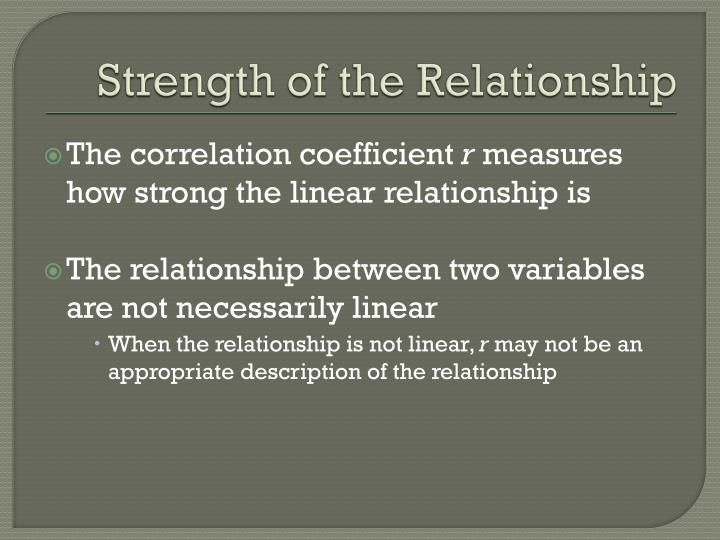 Strength of the Relationship
