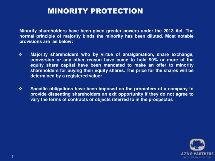 MINORITY PROTECTION