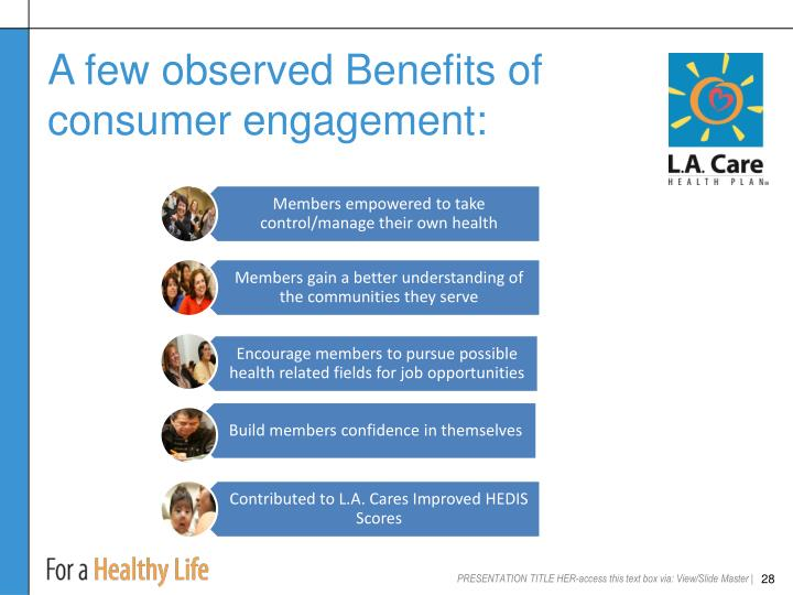A few observed Benefits of consumer engagement: