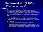 paulesu et al 1995 discussion cont d