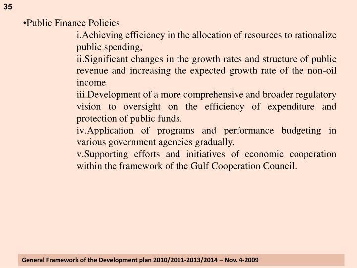 Public Finance Policies