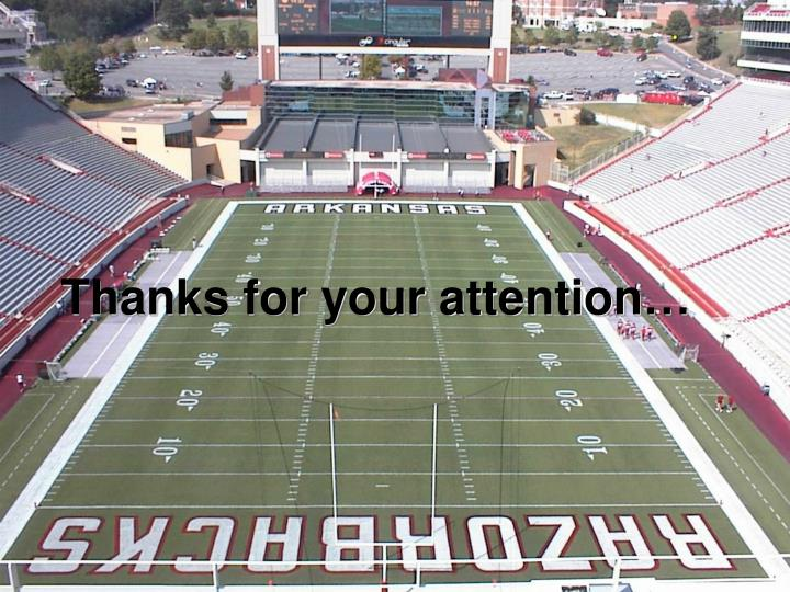 Thanks for your attention…