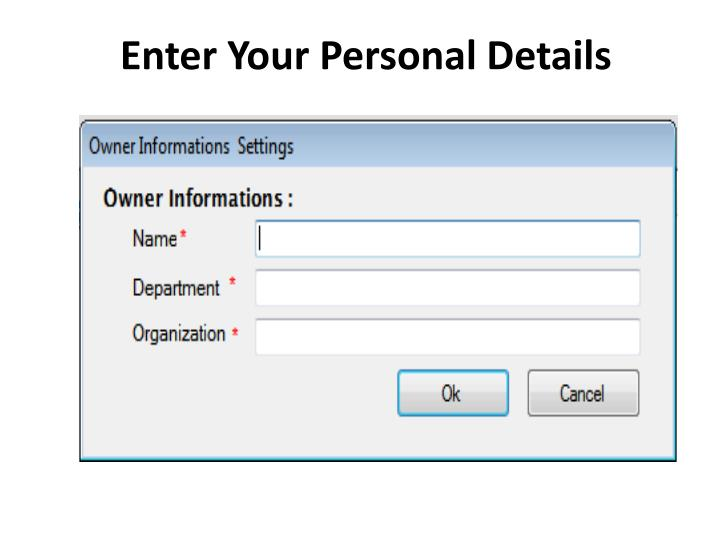 Enter Your Personal Details