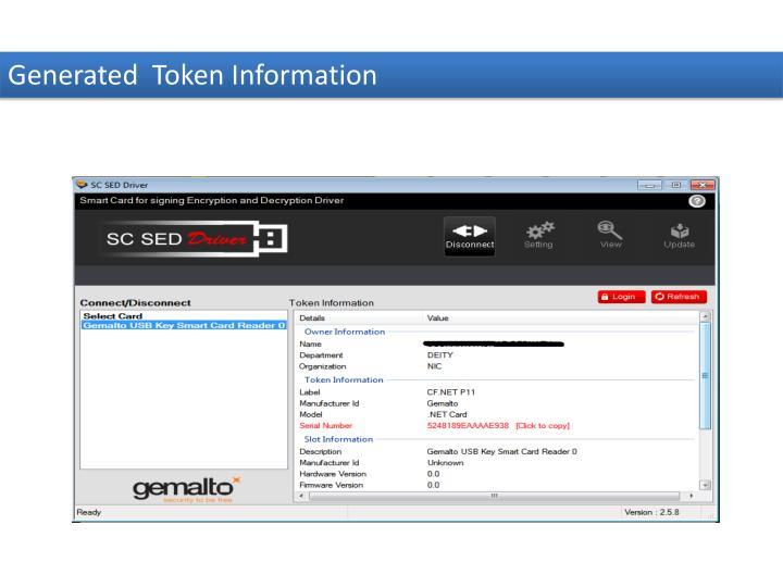 Generated  Token Information