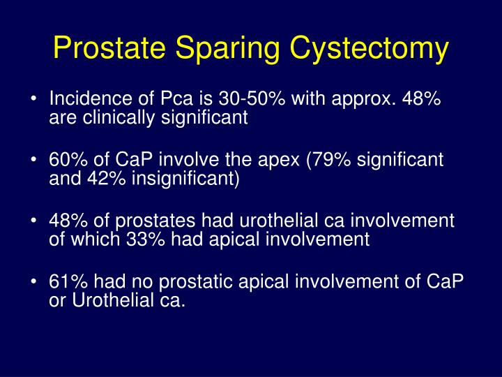 Prostate Sparing Cystectomy