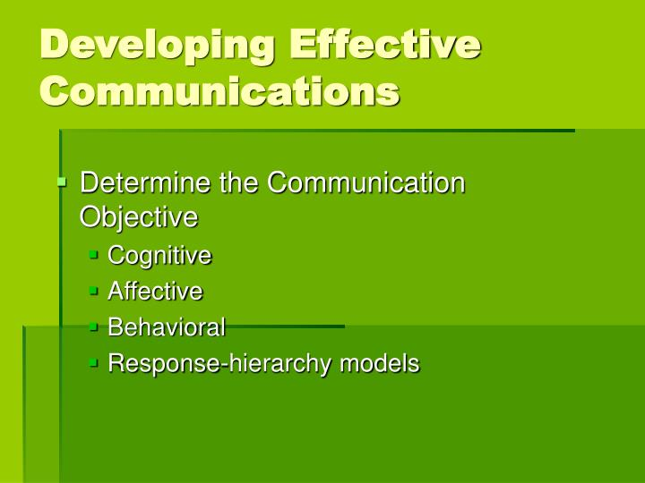 Developing Effective Communications