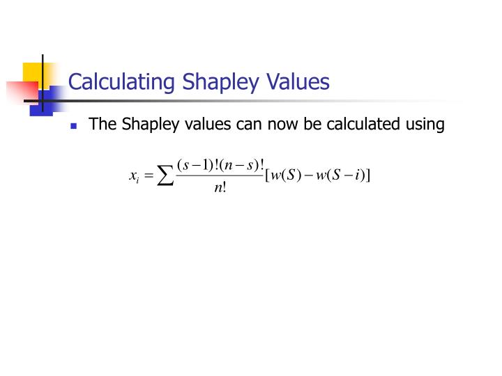 Calculating Shapley Values