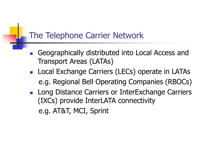 The Telephone Carrier Network