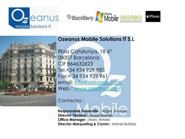 Ozeanus Mobile Solutions IT S.L