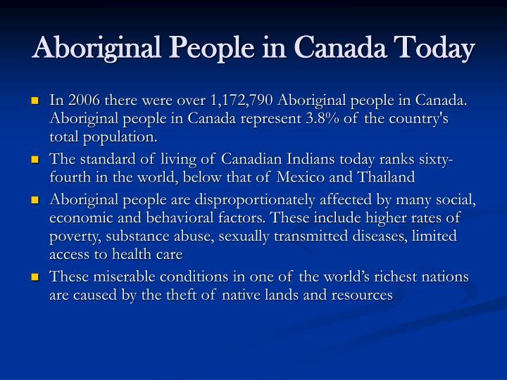 Aboriginal People in Canada Today