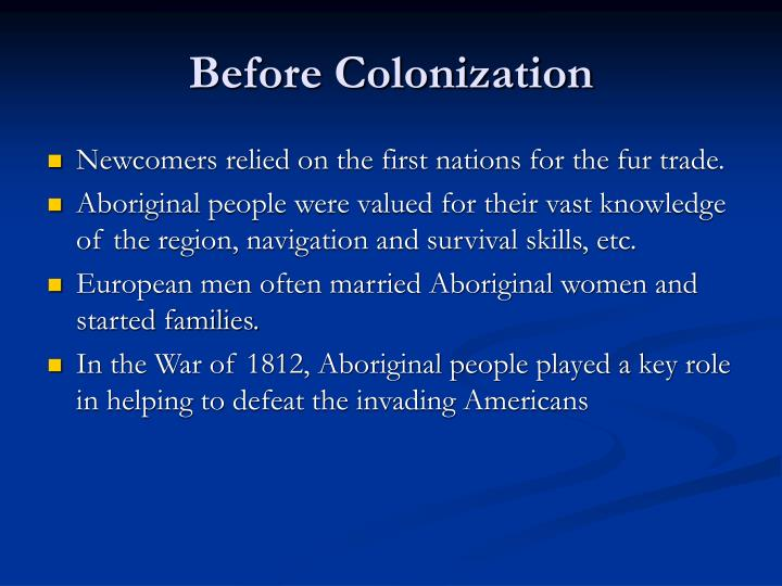 Before colonization