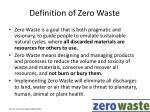 definition of zero waste
