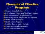elements of effective programs